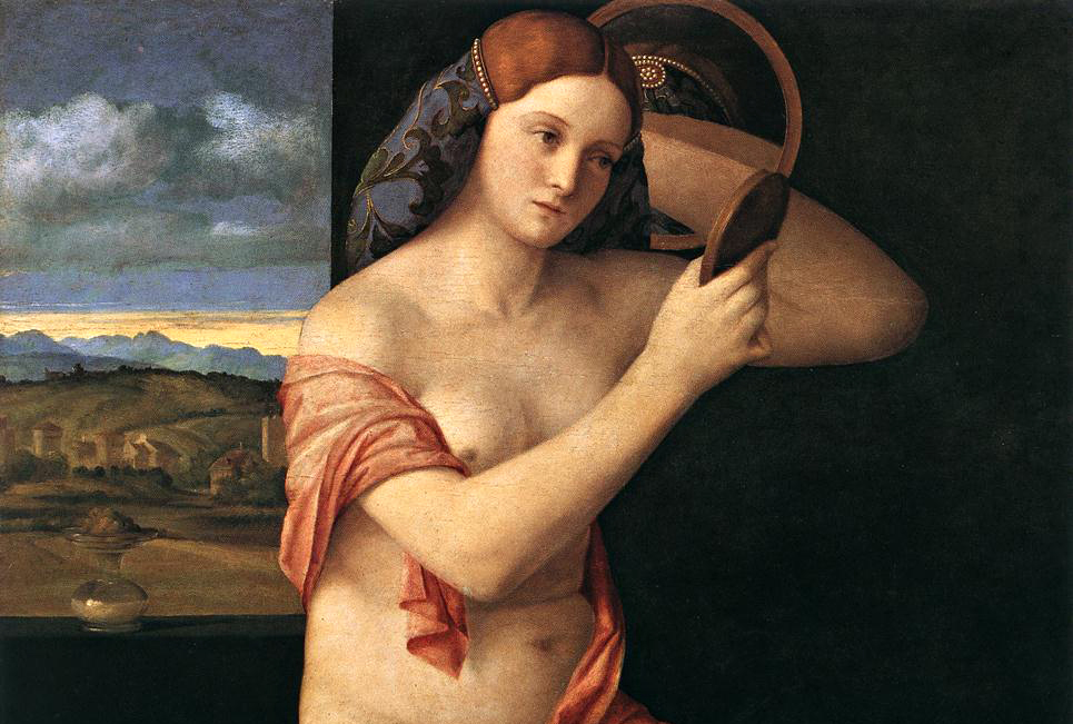 Giovanni Bellini | Obra: Naked Young Woman in Front of the Mirror.
