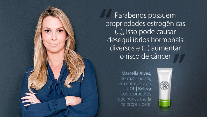 A presença da palavra parabeno no rótulo de qualquer produto de beleza é o suficiente para a dermatologista Marcella Alves, da Clínica Les Peaux, descartá-lo.
