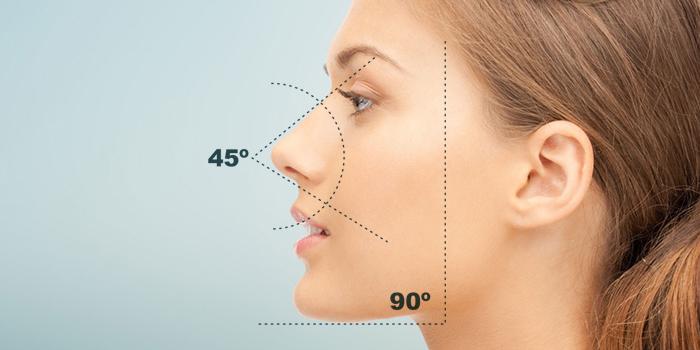 Tratamento a base de ácido hialurônico, sem cortes, corrige o ângulo, harmoniza e embeleza o nariz. Imagem acervo Clínica Les Peaux.