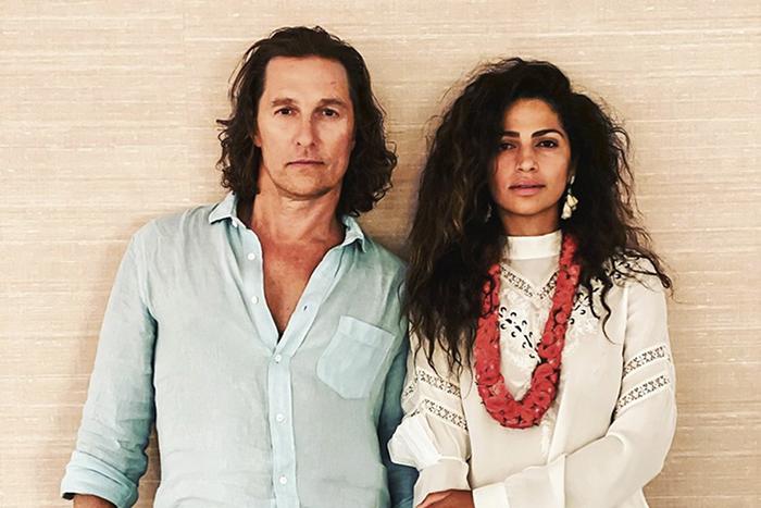 Matthew McConaughey e a brasileira Camila Alves — Foto: Instagram